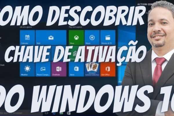 Chave de Ativação do Windows - Veja Como Descobrir a CHAVE DE ATIVAÇÃO do Windows 10
